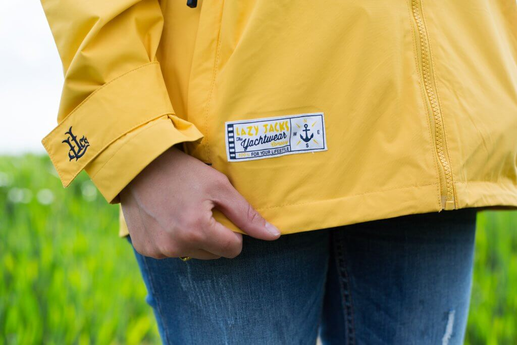 A classic yellow raincoat from Lazy Jacks